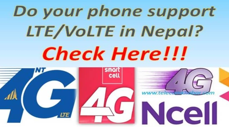 how to check if your phone support lte volte in nepal