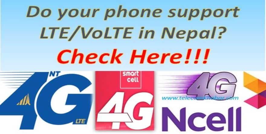 How to check if your phone support LTE/VoLTE in Nepal