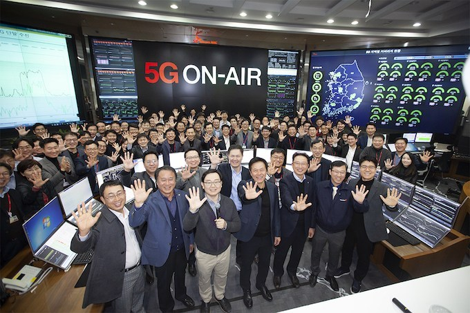 first 5g launch in korea by skt telecom