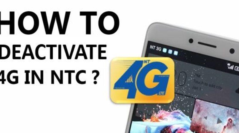 deactivate nepal telecom 4G LTE