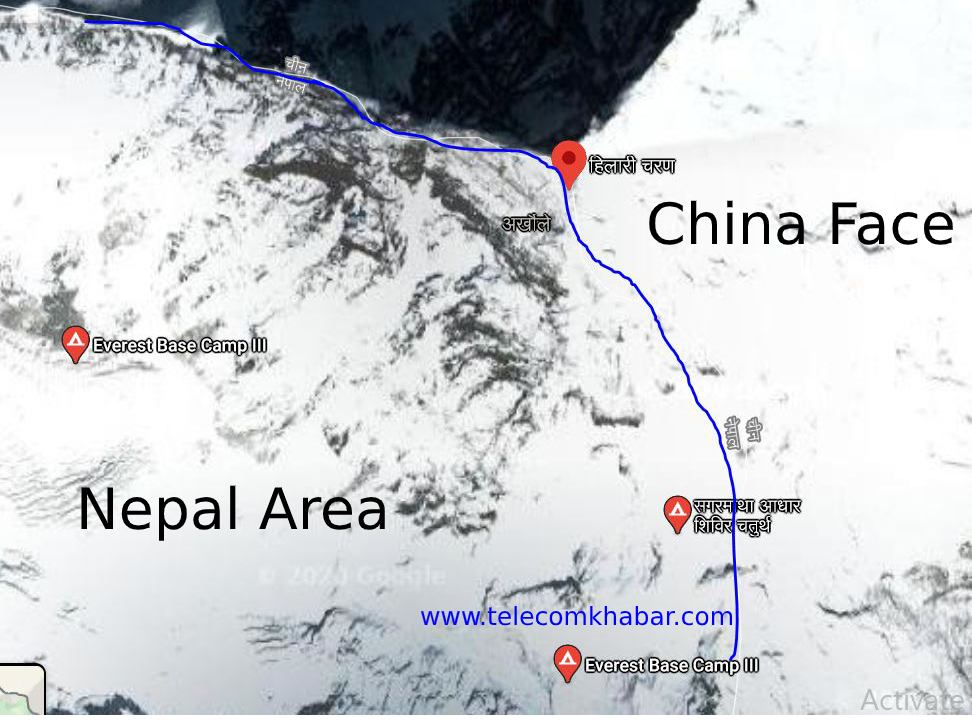 5g in mt everest by china mobile and huawei but not in nepali side of Mt Everest