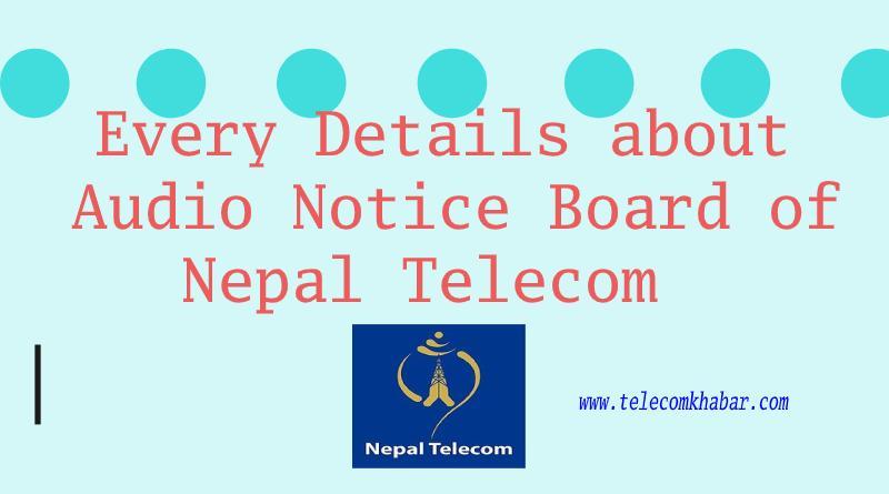 audio notice board service of nepal telecom