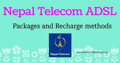 Nepal Telecom ADSL packages and recharge
