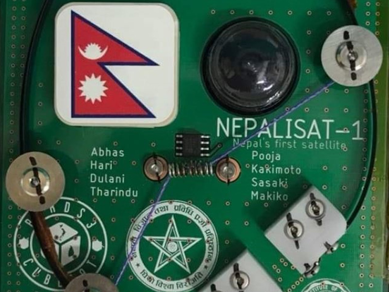 nepal first nano satellite nepalisat-1